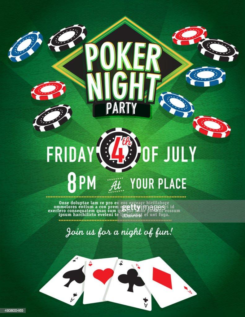 Chips Fall Poker Night Party Casino Invitation Design Template ...