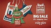 Chiristmas sales banner with tags