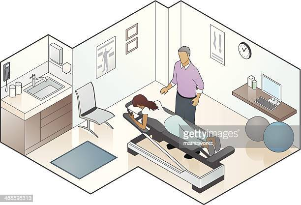 chiropractor illustration - alternative therapy stock illustrations, clip art, cartoons, & icons