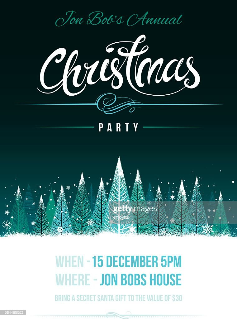 Chirstmas party invitation : Vector Art