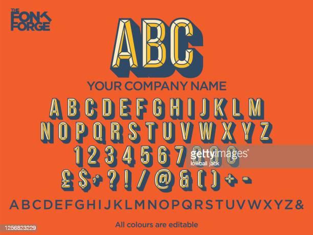 会社のロゴのドロップ シャドウ テキスト スタイルのフォント。ベクトルストックのイラスト。色は簡単に編集可能です。 - vintage stock点のイラスト素材/クリップアート素材/マンガ素材/アイコン素材