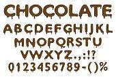 Chocolate alphabet numbers and symbols