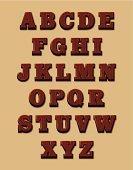 Chocolate alphabet