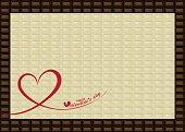 Chocolate bar frame