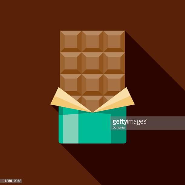 illustrazioni stock, clip art, cartoni animati e icone di tendenza di chocolate bar icon - cioccolato