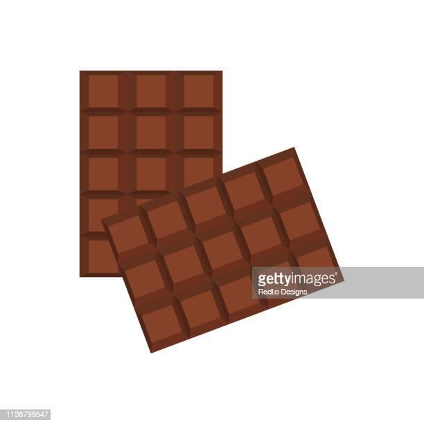 チョコレートバーアイコン - ダークチョコレート点のイラスト素材/クリップアート素材/マンガ素材/アイコン素材