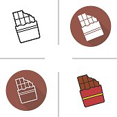 Chocolate bar icons