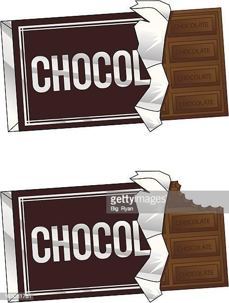 ilustrações, clipart, desenhos animados e ícones de barra de chocolate - barra de chocolate