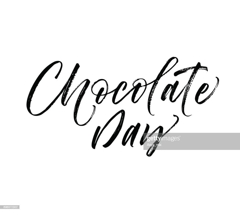 Chocolate day card.