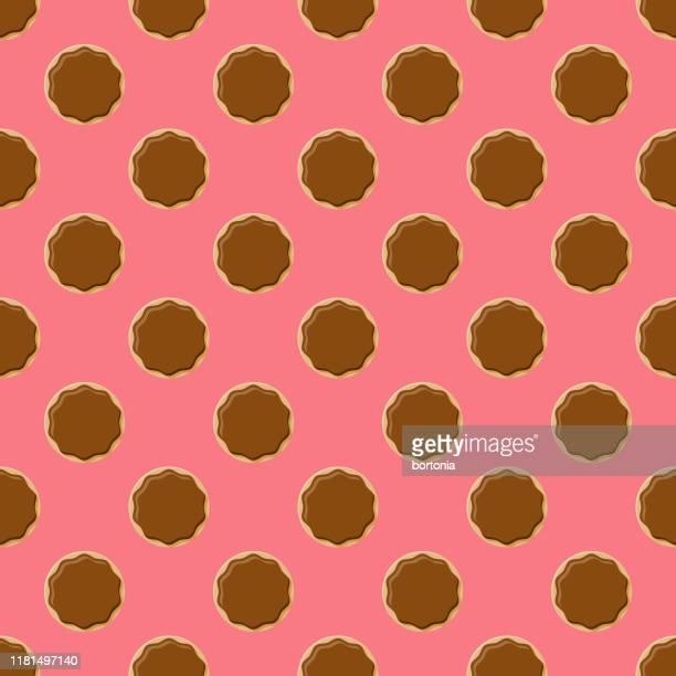 ilustrações, clipart, desenhos animados e ícones de teste padrão mergulhado chocolate da filhós - molho de chocolate