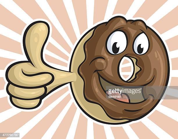 chocolate donut - glazed food stock illustrations, clip art, cartoons, & icons