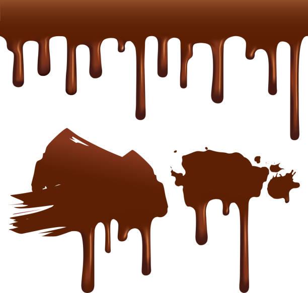 chocolate drips - melting stock illustrations