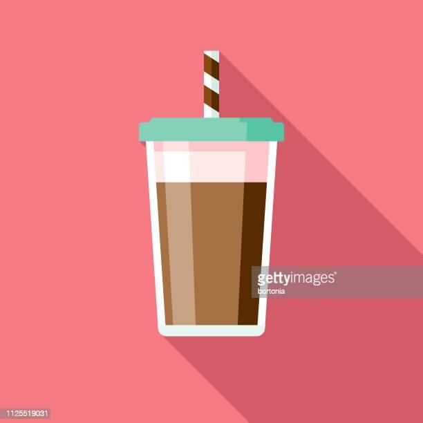 ilustrações, clipart, desenhos animados e ícones de ícone de milk-shake de chocolate - milk shake