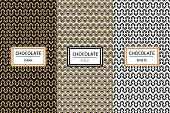 Chocolate Packaging design set