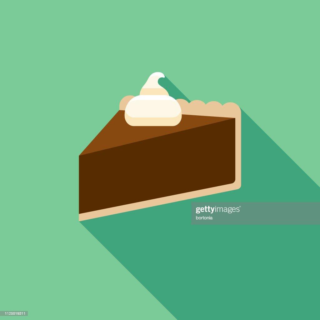 Chocolate Pie Icon : stock illustration