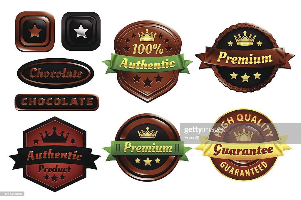 Chocolate Premium Authentic Badges