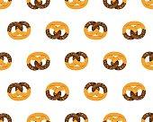 Chocolate pretzel pattern