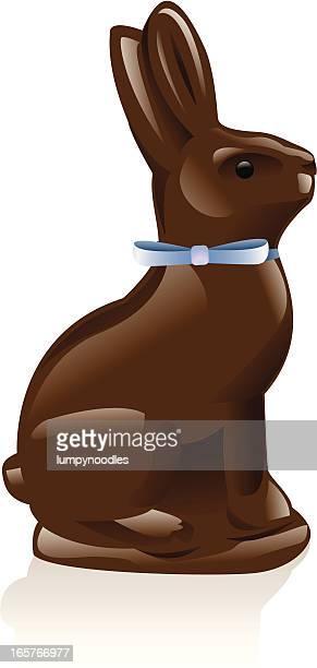 chocolate rabbit - chocolate bunny stock illustrations