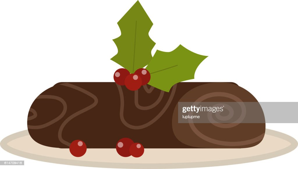 Chocolate roll vector illustration.
