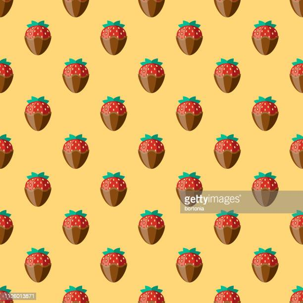 chocolate seamless pattern - chocolate dipped stock illustrations