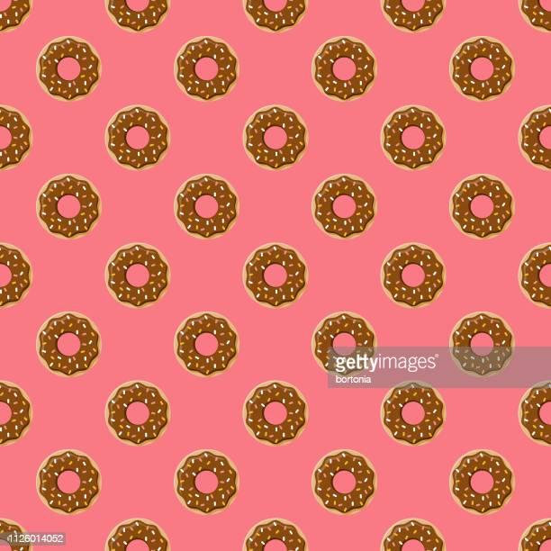 chocolate seamless pattern - glazed food stock illustrations, clip art, cartoons, & icons
