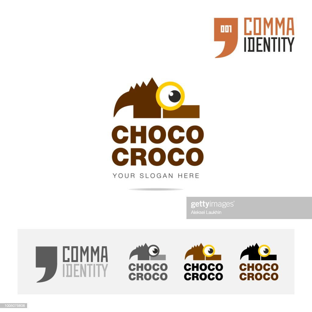 Chocolate sweet company name icon concept design template