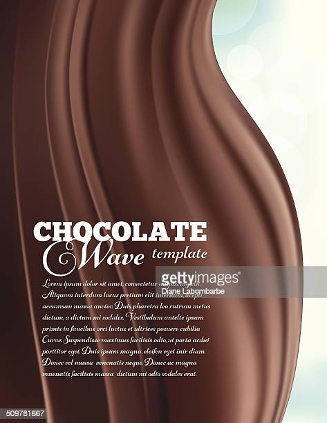 Chocolate Swirl Design Template