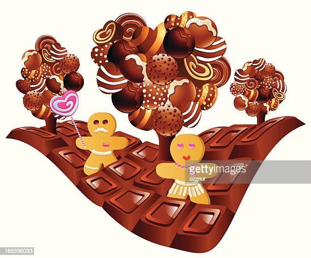 chocolate - milk chocolate stock illustrations, clip art, cartoons, & icons