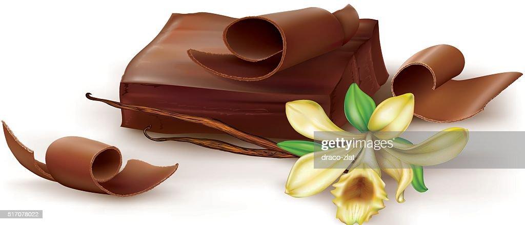 Chocolate with vanilla flover