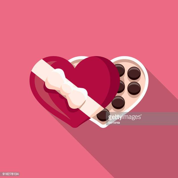 Chocolates Flat Design Valentine's Day Romance Icon
