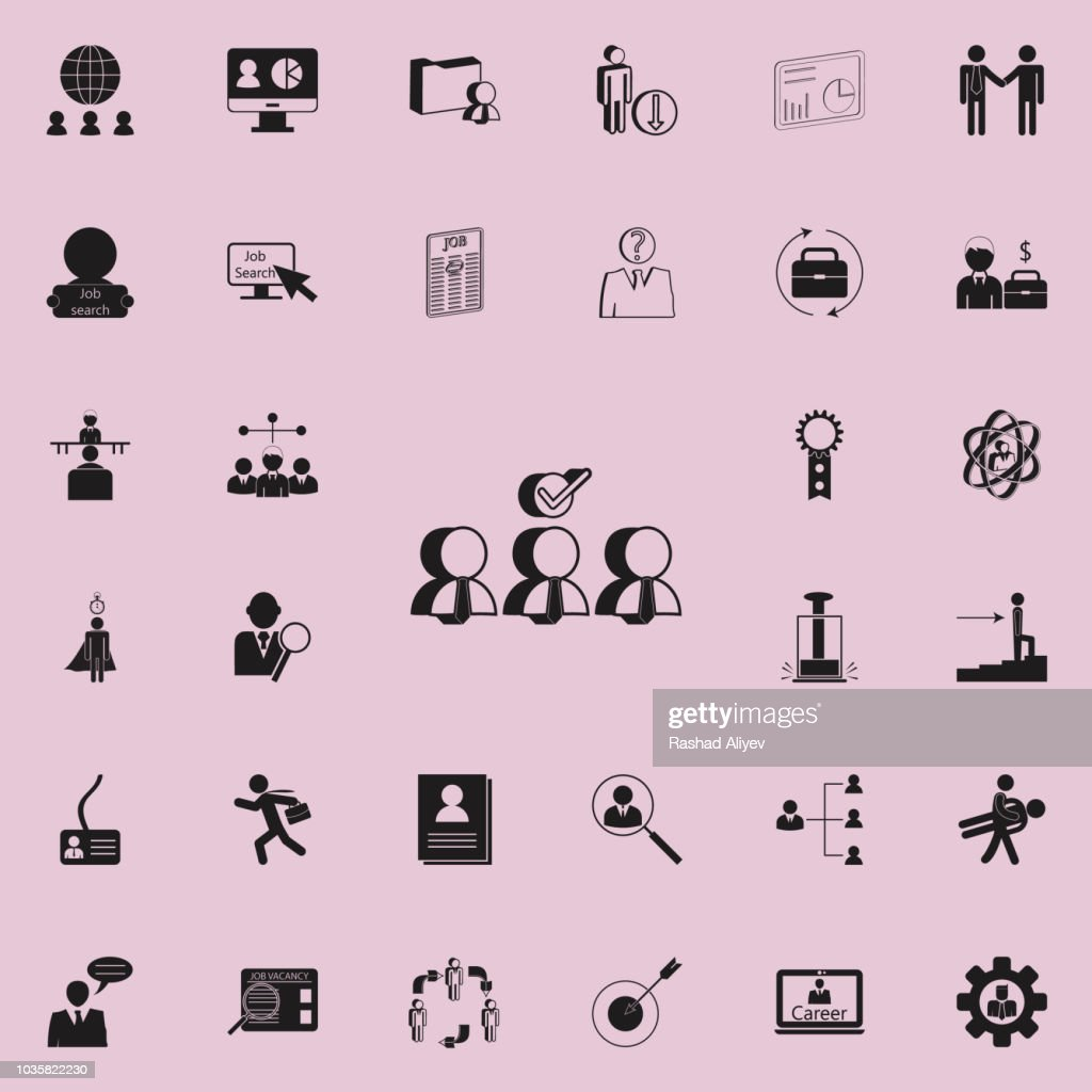 choice of candidate for workicon. HR & Heat hunting icons universal set for web and mobile