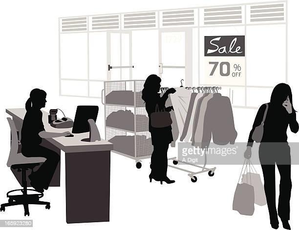 Choice Shopping Vector Silhouette