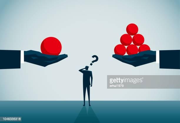choice - unfairness stock illustrations