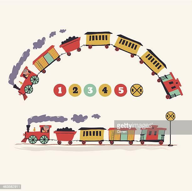 choo-choo train - rail freight stock illustrations, clip art, cartoons, & icons