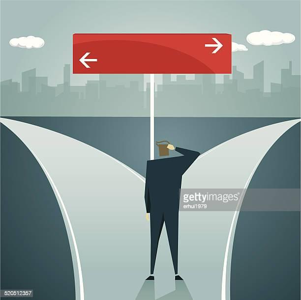 Sie Richtung, Unsicherheit, der Einkehr neues Leben, multidirektionale, Gelegenheit