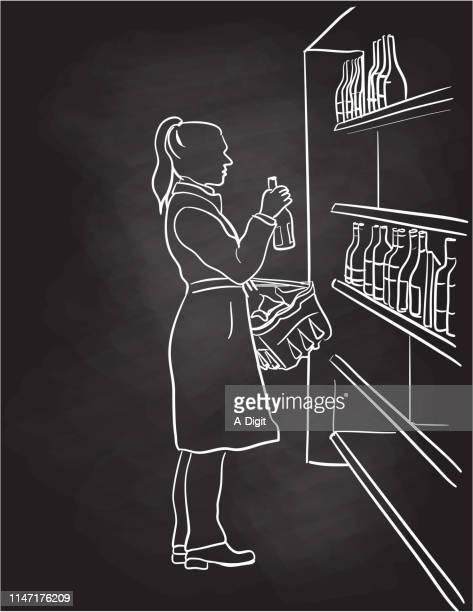 Choosing Wine At The Supermarket Chalkboard