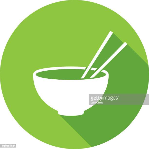 Chopsticks Bowl Icon Silhouette