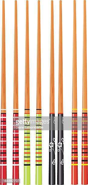 chopsticks on white - chopsticks stock illustrations, clip art, cartoons, & icons