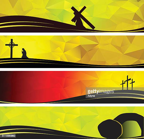 christ carrying the cross - jesus stock illustrations, clip art, cartoons, & icons