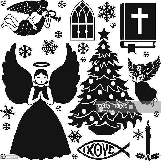 Christian Christmas design elements
