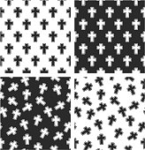 Christian Cross Aligned & Random Seamless Pattern Set