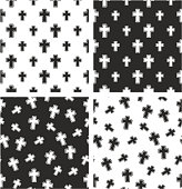 Christian Cross Big & Small Aligned & Random Seamless Pattern Set