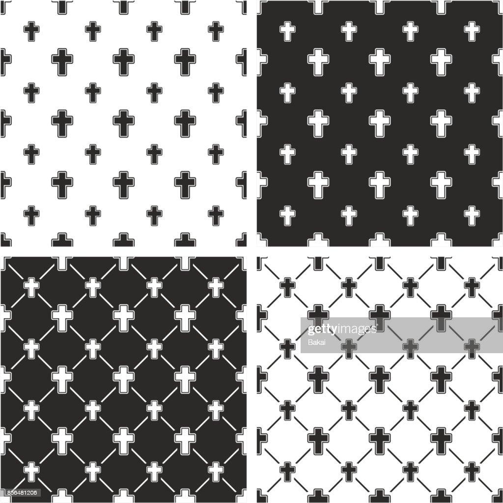 Christian Cross Big & Small Seamless Pattern Set
