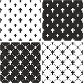 Christian Cross Big & Small Seamless Pattern Set