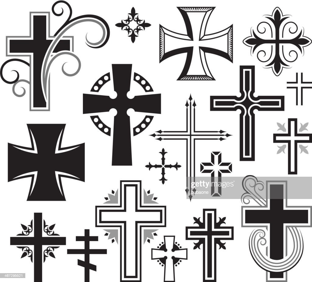 Cross Shape Stock Illustrations And Cartoons Getty Images Electrical Symbol Icon Set Isolated On A White Background Christian Black Royalty Free Vector