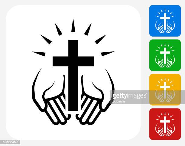 Christian Cross Symbol flache Grafik Design