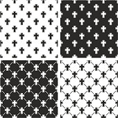 Christian Cross Seamless Pattern Set