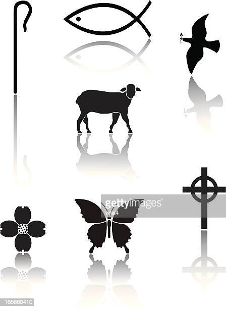 christian icons - celtic cross stock illustrations, clip art, cartoons, & icons