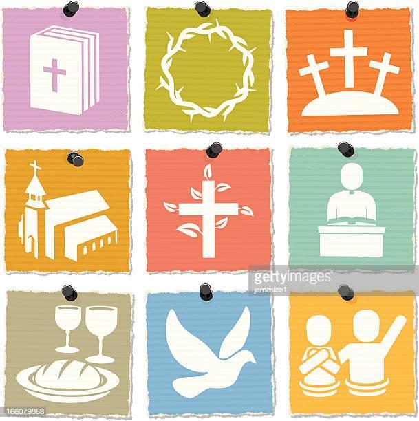illustrations, cliparts, dessins animés et icônes de christian icônes - baptême