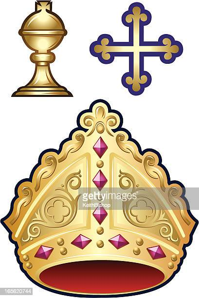 ilustrações, clipart, desenhos animados e ícones de religião cristã bishop elementos - bishop clergy